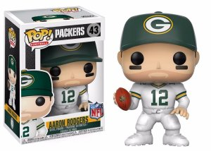Funko Pop Nfl Green Bay Packers Aaron Rodgers White #43