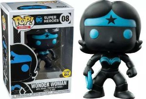 Funko Pop DC Super Heroes Wonder Woman Silhouette Glow Exclusivo #08