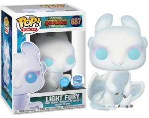 Funko Pop Como Treinar Seu Dragão 3 - Light Fury Glitter Exclusivo FunkoShop #687