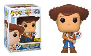 Funko Pop Disney Toy Story Sheriff Woody Holding Forky Garfinho Exclusivo Hot Topic #535