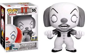 Funko Pop Terror IT Pennywise Black and White Exclusivo RI Comic Con #55