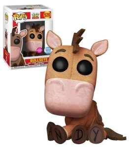 Funko Pop Disney Toy Story 4 Bullseye Bala no Alvo Flocked Exclusivo Funkoshop #520