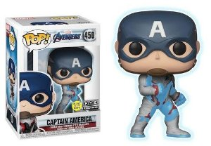 Funko Pop Marvel End Game Capitão América Exclusivo Glow In The Dark #450