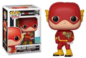 Funko Pop The Big Bang Theory Sheldon as Flash Exclusivo SDCC 19 #833