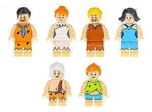 Bloco de Montar Os Flintstones Kit 6 Bonecos