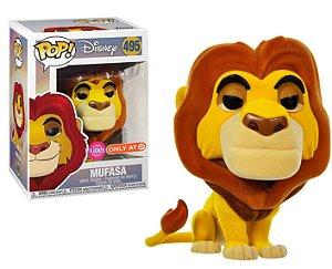 Funko Pop Disney O Rei Leão The Lion King Mufasa Flocked Exclusivo #495