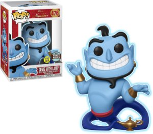 Funko Pop Disney Aladdin Genie with Lamp Glow Exclusivo #476