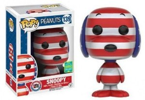 Funko Pop Penauts Snoopy Patriota Exclusivo SDCC 16 #136