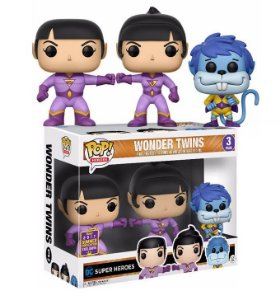 Funko Pop DC Wonder Twins Super Gemeos 3 Pack Exclusivo SDCC17