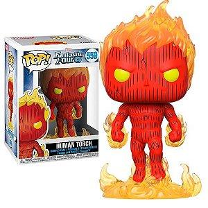 Funko Pop Marvel Quarteto Fantástico Tocha Humana Human Torch #559