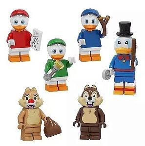 Bloco de Montar Ducktales Tio Patinhas Kit 6 Bonecos