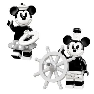Bloco de Montar Mickey e Minnie Retrô 2Pcs