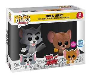 Funko Pop Tom and Jerry Flocked 2-Pack Exclusivo Funkoshop