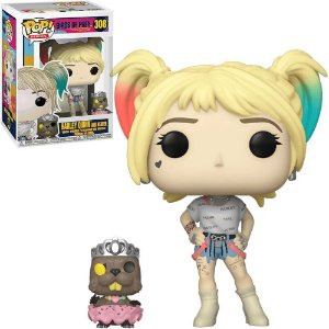 Funko Pop DC Harley Quinn Aves de Rapina Birds of Prey - Harley and Beaver #308
