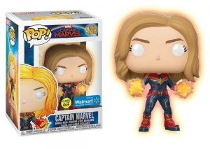 Funko Pop Marvel Capitã Marvel Exclusiva Glow #432