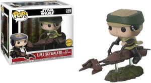 Funko Pop Star Wars Luke Speeder With Speeder Bike Chase #228