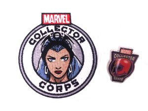 Funko Pin e Patch X-men Marvel Collector Corps
