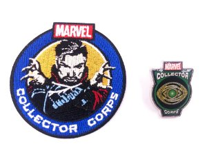 Pin E Patch Doutor Estranho Marvel Collector Corps Funko