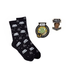 Star Wars Meias Stormtrooper Pin Patch Smugglers Bounty Funko