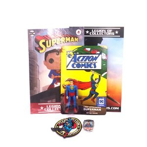 Funko Pin + Patch + Action Figure Superman Dc Legion Of Collectors