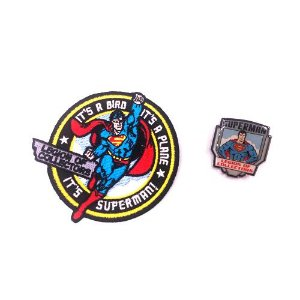 Pin e Patch Superman Dc Legion Of Collectors Funko