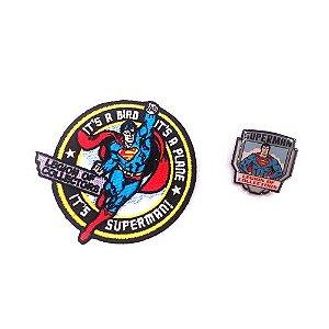 Funko Pin e Patch Superman Dc Legion Of Collectors