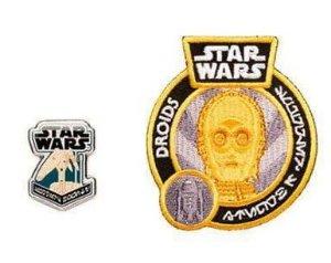 Funko Pin + Patch Star Wars Smugglers Bounty Droids