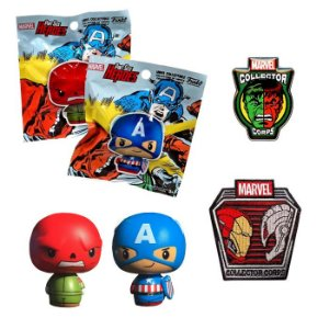 Pint Size + Pin + Patch Superhero Showdowns Marvel Collectors Corps