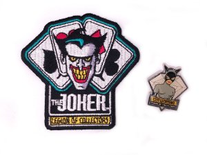Pin Catwoman e Patch Joker Villains Dc Legion Of Collectors