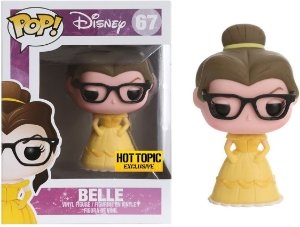 Funko Pop Disney Belle Hipster Exclusiva Hot Topic #67