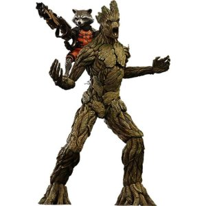 Guardians of the Galaxy Rocket and Groot Set - Hot Toys
