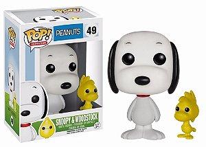 Funko Pop Peanuts Snoopy e Woodstock Flocked Exclusivo #49