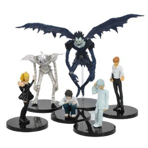 Set 6 Action Figures Death Note Ryuk L Misa Light Remu Near Anime