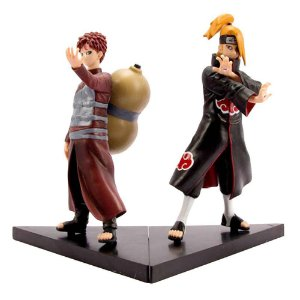 Kit 2 Action Figures Gaara + Deidara Dxf Shinobi Relations