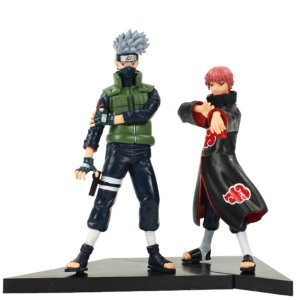 Kit 2 Action Figures Gaara + Kakashi Dxf Shinobi Relations