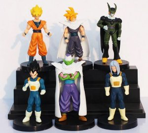 Kit 6 Miniaturas Dragon Ball Z 14cm