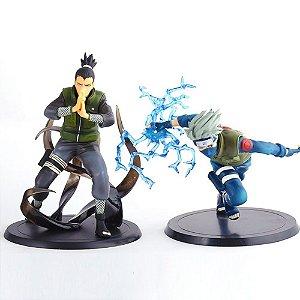 Kit 2 Action Figures Naruto - Shikamaru Nara e Kakashi Hatake