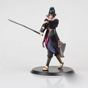 Naruto Shippuden Uchiha Sasuke Akatsuki Boneco Pvc 18cm