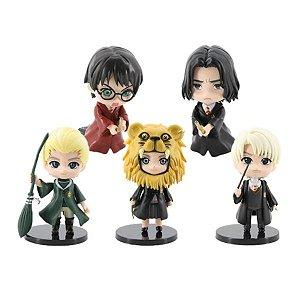 Kit 5 Action Figures Qposket Harry Potter Luna Drago Snape