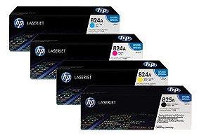 KIT TONER HP CM6040 CM6030 ORIGINAL 4 CORES  CB390A CB381A CB382A CB383A