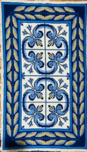 Tapete Azulejos Floral #47