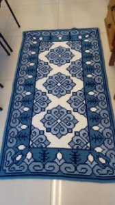 Juta Riscada para Tapete Azulejos #12