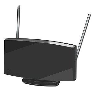 Antena Castelo Interna Digiblack DUO M1080 VHF, UHF, FM e Digital