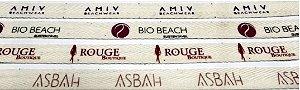 Etiquetas de Algodão Cru  Impressas em 1 cor