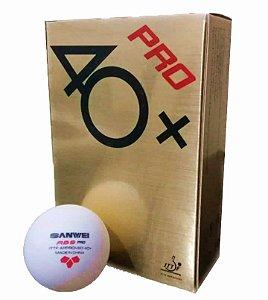 06 Bolas Sanwei Tênis De Mesa Novo Material *Plastico 40+