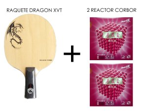 11418d550d3 Raquete Caneta Japonesa Profissional + 1 Reactor Corbor tenis de ...