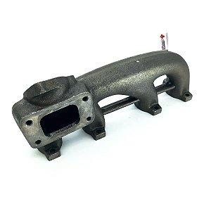 Coletor de Escapamento Turbo para VW AP 8V Com Ar e Direção Hidráulica Mono Fluxo para Baixo (T3)
