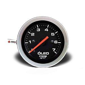 Manômetro Pressão de Óleo 7kg linha Sport 52mm