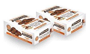 2 Displays de Cookie proteico de CACAU com 17g de proteina de whey protein com BCAA e Glutamina - All Protein 16 unidades de 40g - 640g