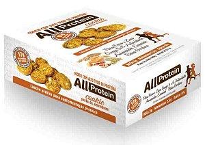 Cookie proteico de Pasta de Amendoim com 17g de proteina de whey protein com BCAA e Glutamina - All Protein 16 unidades de 40g - 640g